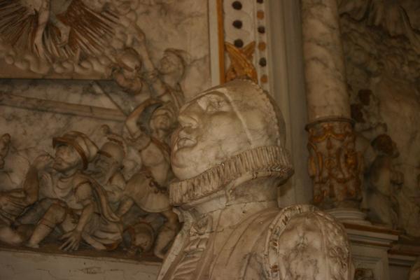 Detailansicht des Epitaph der St. Andreaskirche