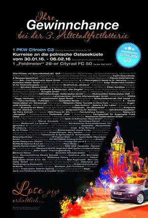 Gewinnplakat Altstadtfest-Lotterie
