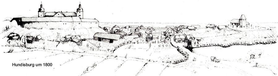 Hundisburg um 1800