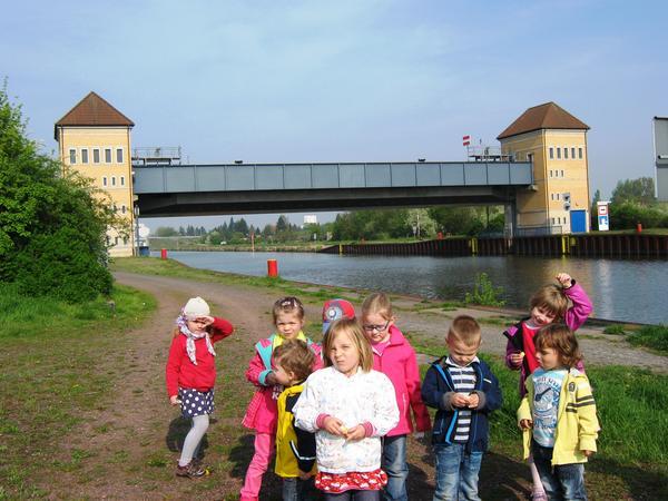 Spaziergang zum Kanal