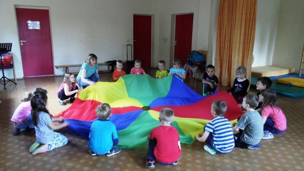 Probe für die Abschlußfeier unserer ABC-Kinder