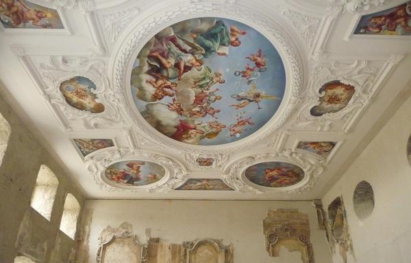 Barockdecke im Schloss Hundisburg