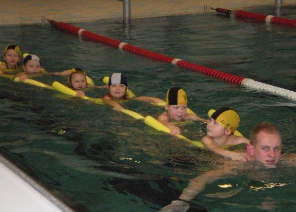 Schwimmgruppe der Kita Max und Moritz