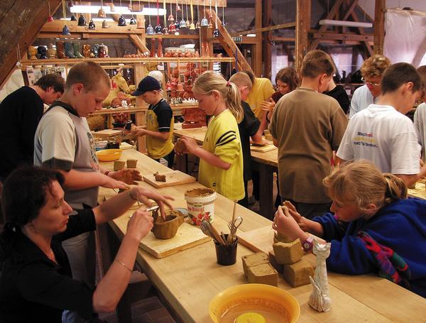 Keramikwerkstatt im Technischen Denkmal Ziegelei