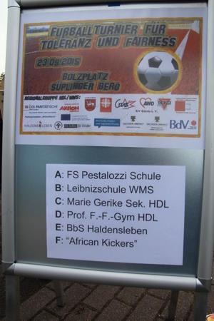 Interkulturelles Fußballturnier: Förderer, Unterstützer und Mannschaften