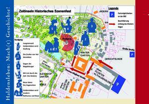 Geländeplan zum historischen Szenenfest
