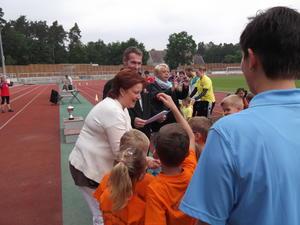 Bürgermeisterin Regina Blenkle beim 5. Bummisportfest
