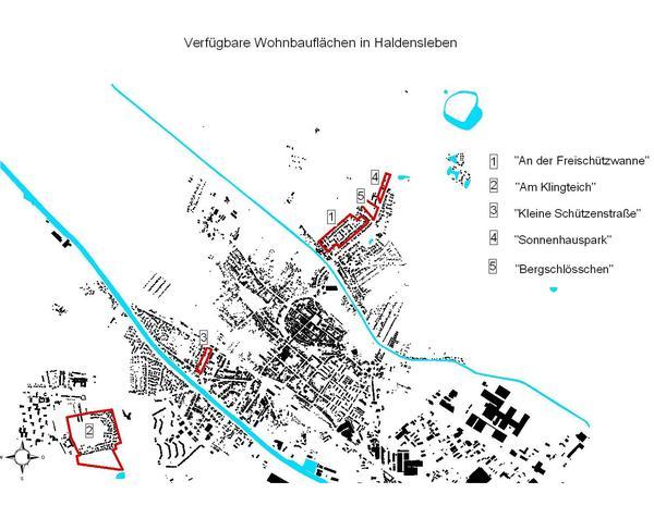 Übersichtsplan über verfügbare Flächen