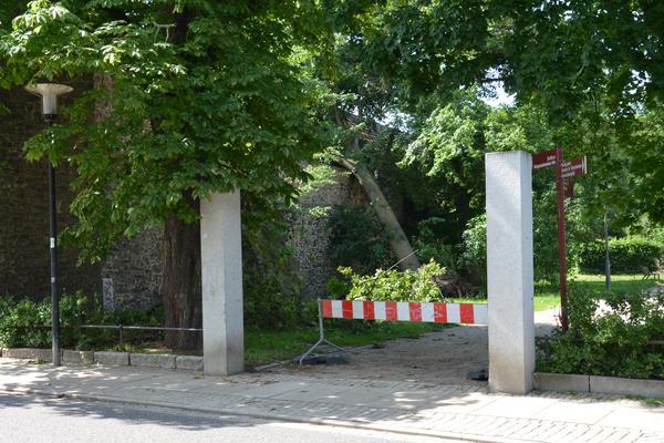 Der Alte Friedhof ist noch immer gesperrt.