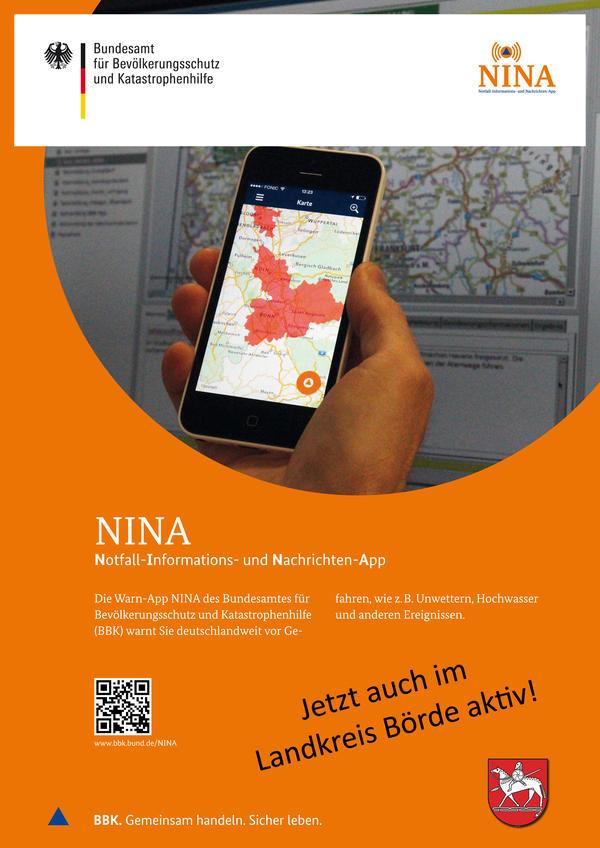 Das Plakat zur App NINA