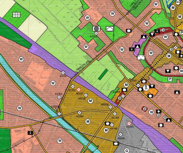 Flächennutzungsplan Ausschnitt Südteil