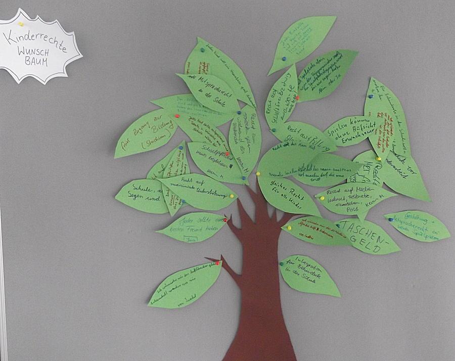 Kinderrechte-Wunschbaum