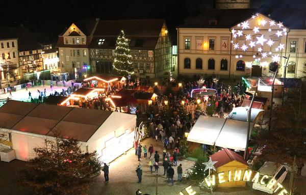 So weihnachtlich wird der Haldensleber Sternenmarkt auch in diesem Jahr wieder.