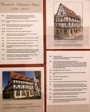 Die Chronik des Hauses in einer Übersicht.