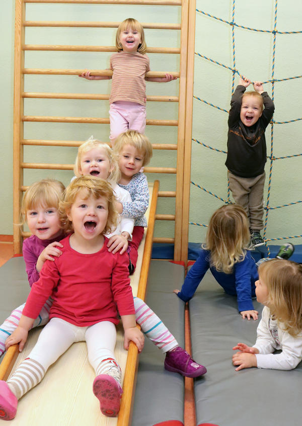 Kinder der Kita Birkenwäldchen in Satuelle. In dem Ortsteil wurde ein Bevölkerungsplus von 11 Personen registriert.