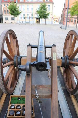 Eine Böllerkanone 'Donnerberg' (Kal. 50mm)