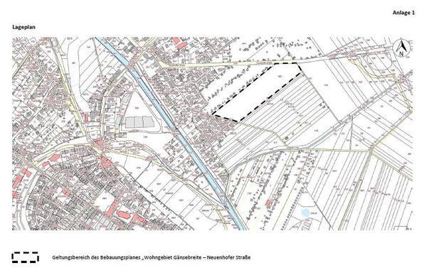 BP Gänsebreite Neuenhofer Str. Lageplan