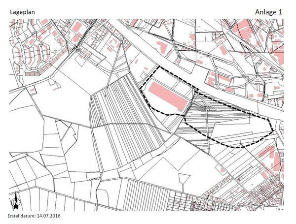 Bebauungsplan Südhafen Lageplan