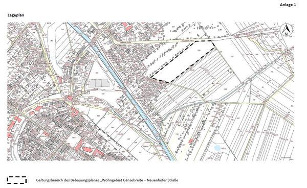 Bebauungsplan »Gänsebreite - Neuenhofer Straße