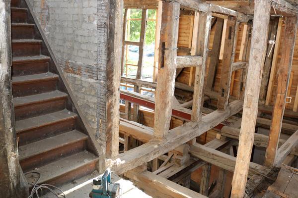 Ein Blick ins Innere des Gebäudes.