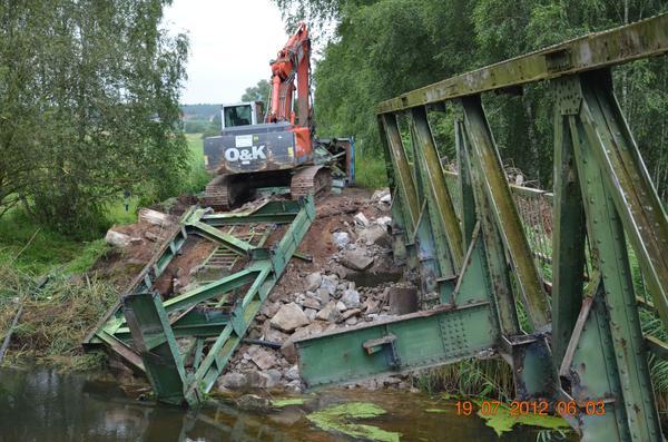 Abriss Ohrebrücke zwischen Satuelle und Bülstringen
