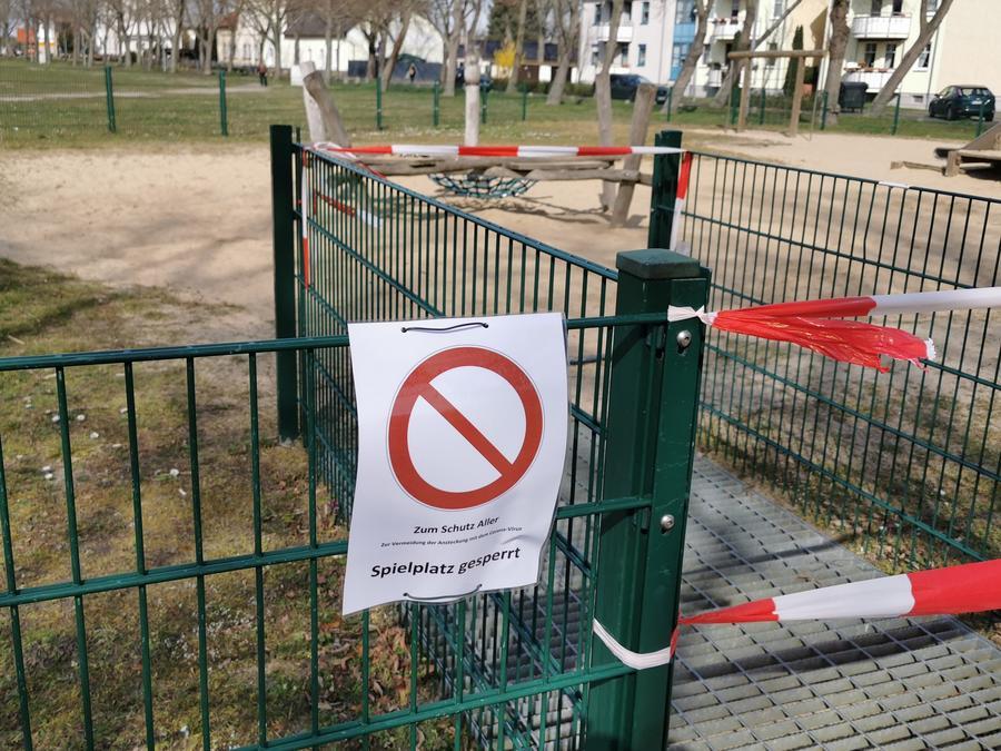 Spielplatz Schließung